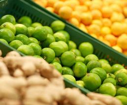 limes at a grocery store