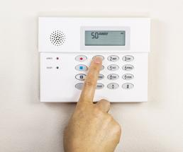 house alarm system panel