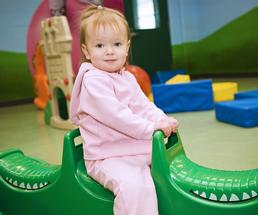 girl playing at daycare