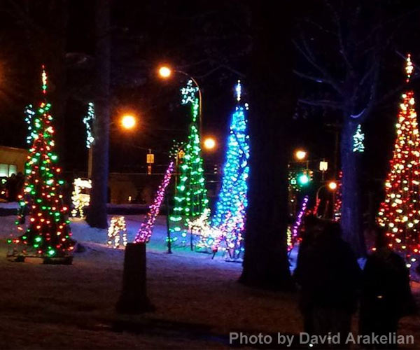 holiday lights in lake george