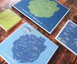handmade adirondack maps