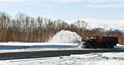 snow plow plowing snow