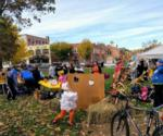 people at a halloween fall festival