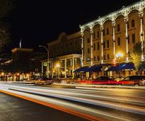 downtown saratoga in evening