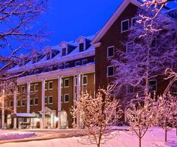 outside hotel in winter