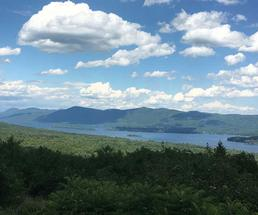 view from prospect mountain overlooking lake george