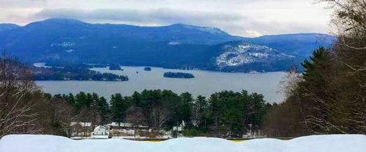 summit view in winter