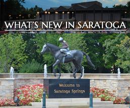 welcome to saratoga horse statue