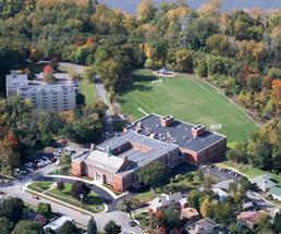 aerial view of doane stuart school in rensselaer