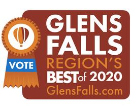 region's best badge with vote for us ribbon
