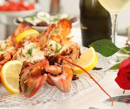fine dining with lobster