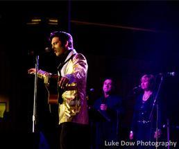 Elvis tribute artist at the festival