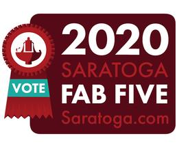 fab five badge with vote for us ribbon