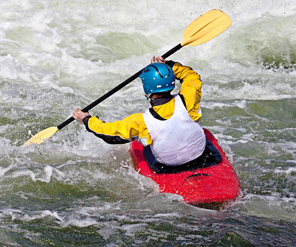 whitewater paddler