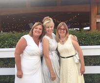 three women in white