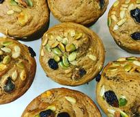 muffins with raisins, nuts, seeds