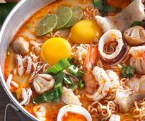 a Thai soup with seafood