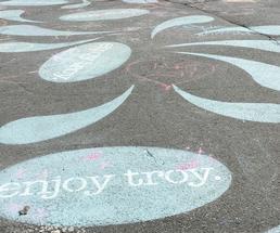 sidewalk chalk saying enjoy Troy