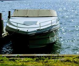 a boat docked