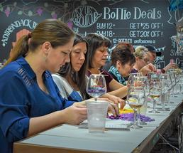 people in a candle making class
