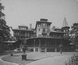black and white historic photo of The Sagamore