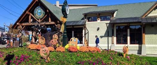 Visitors Center with Halloween decorations