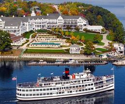 steamboat cruise in fall by Sagamore