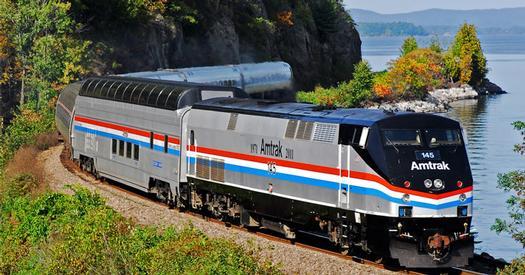 train going through foliage