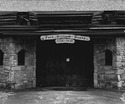 black and white photo of Fort William Henry