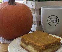 mug, pumpkin, and treat