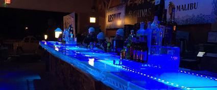 an ice bar
