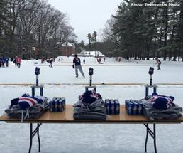 hockey game outdoors