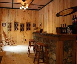 a tasting room at ledge rock hill winery