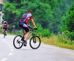 a guy biking