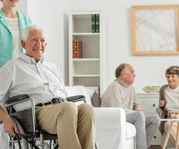 people inside a nursing home