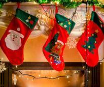 stockings near fireplace