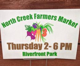sign for North Creek Farmers Market