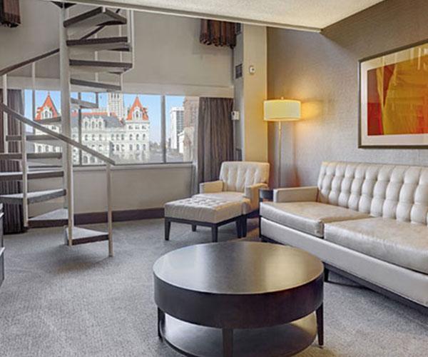 hotel room in albany