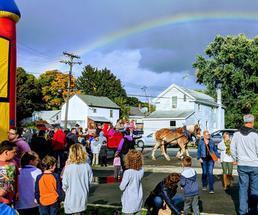 rainbow over event