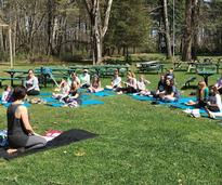 outdoor yoga camp