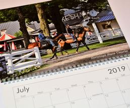 calendar opened to July 2019