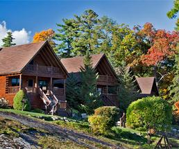 lodges at the lodges at cresthaven in the fall