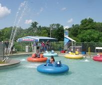 people in water boats at funplex funpark