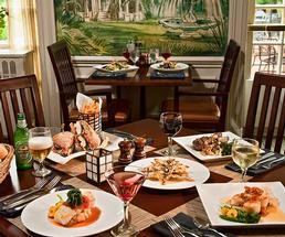 a restaurant table