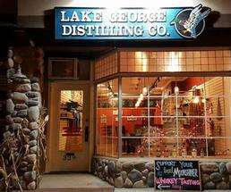storefront of Lake George Distilling