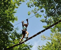 girl on a ropes course