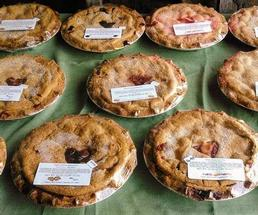 pies on a table