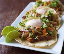 korean tacos with lime slices