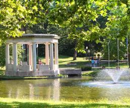 congress park pond fountain