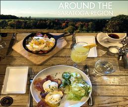 around the region header with brunch food